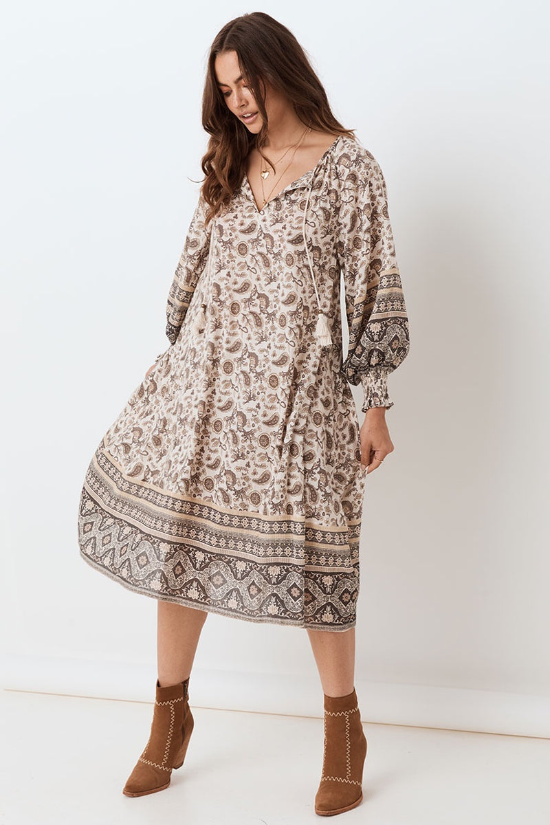 SHOP - Spell - Journey Boho Dress - Ash