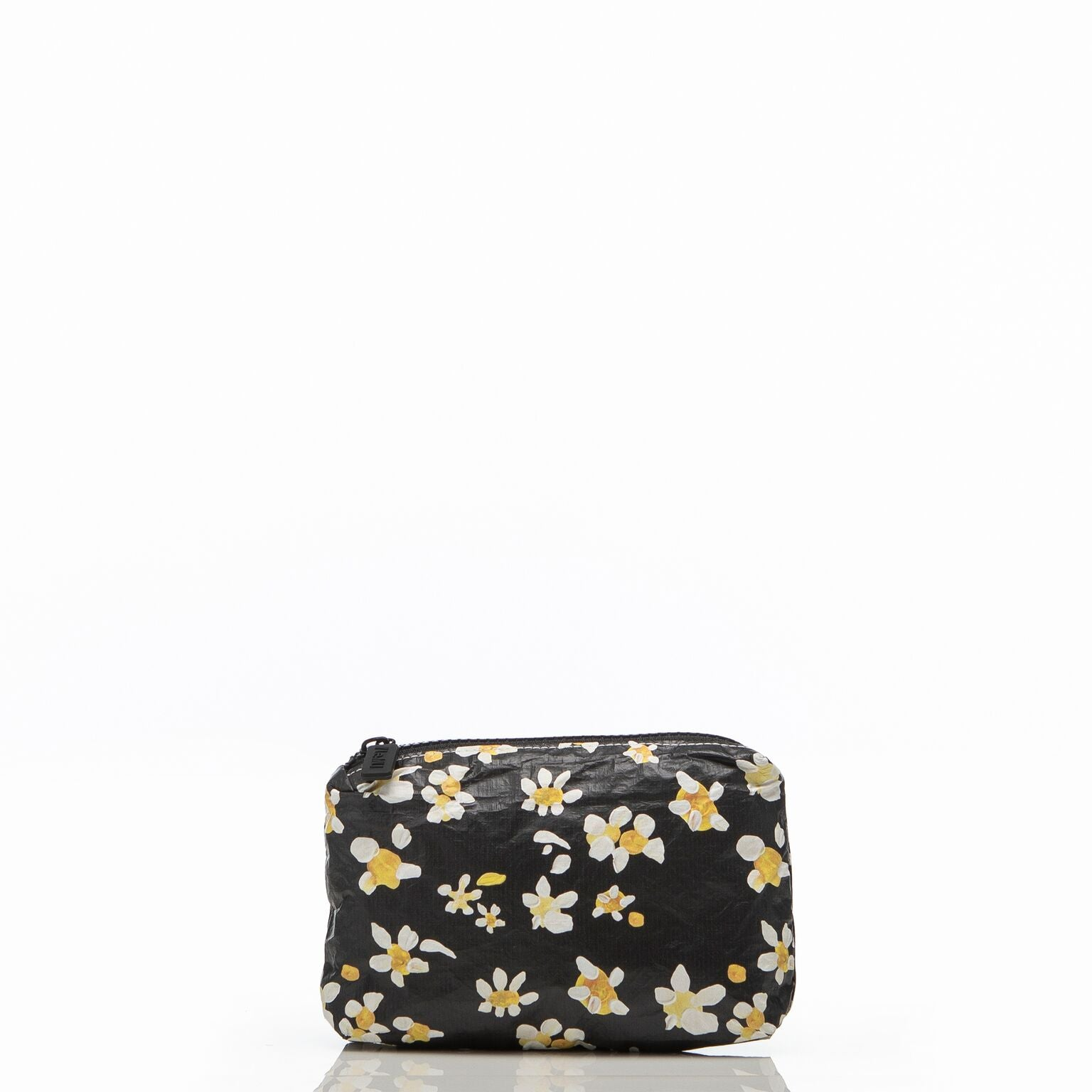 le mu - mini pouch - black daisy