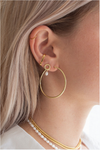 flash - mondo large hoops 40mm - 18k gold plated brass