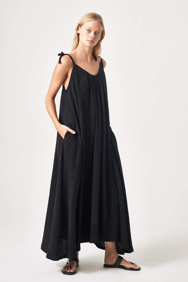 SHOP - Honour Apparel Tie Me Maxi - Black