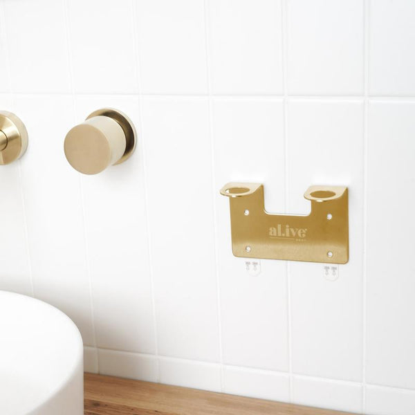 SHOP - ALIVE BODY - double wall holder - gold