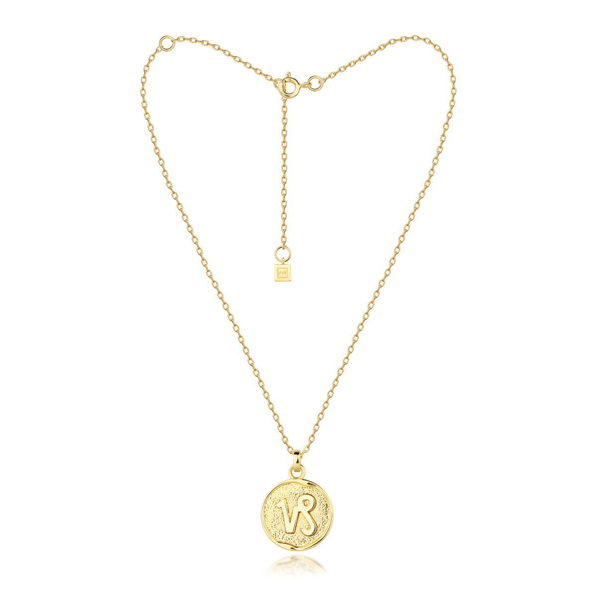 f + h jewellery - capricorn necklace - gold