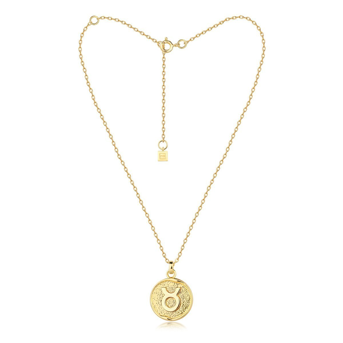 f + h jewellery - taurus necklace - gold