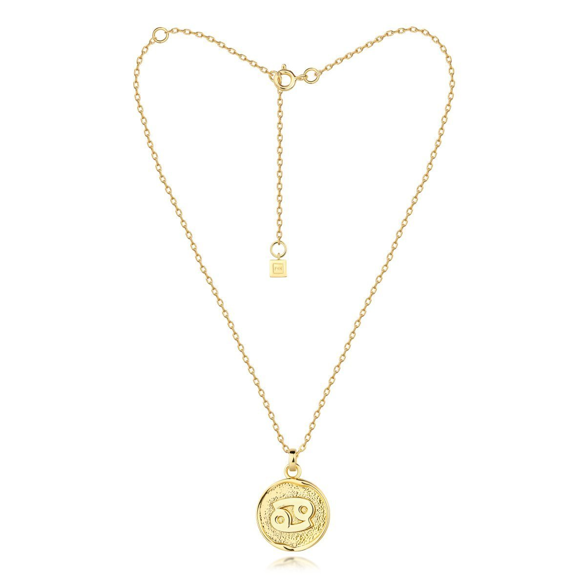 f + h jewellery - cancer necklace - gold