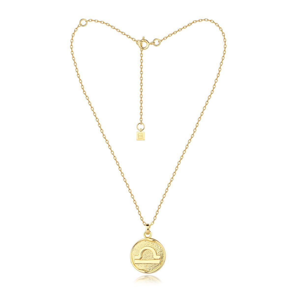 f + h jewellery - libra necklace - gold