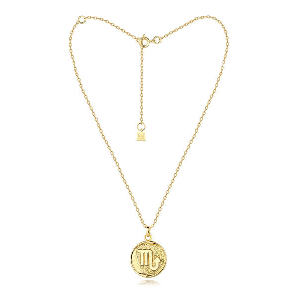 scorpio necklace - gold