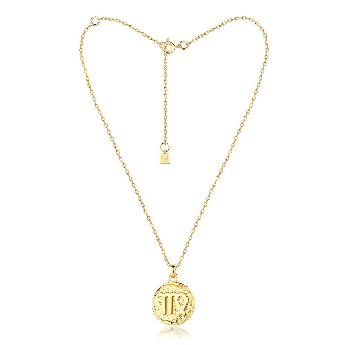 f + h jewellery - virgo necklace - gold