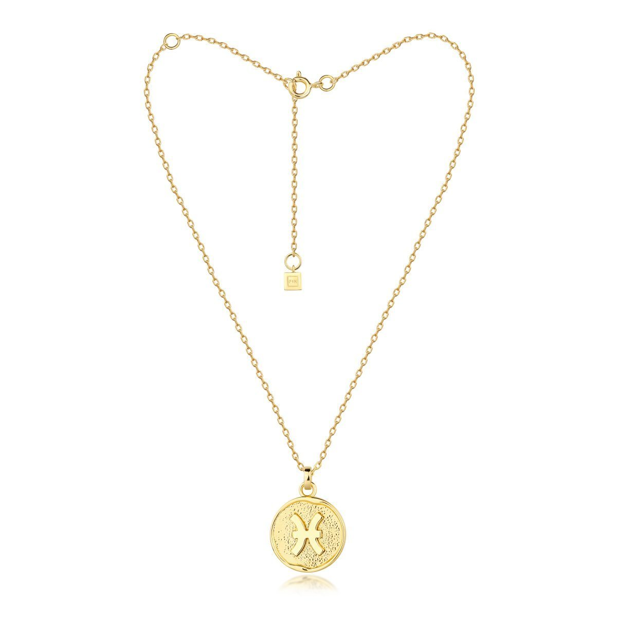 f + h jewellery - pisces necklace - gold