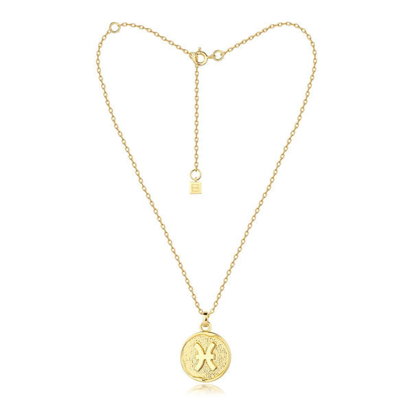 pisces necklace - gold