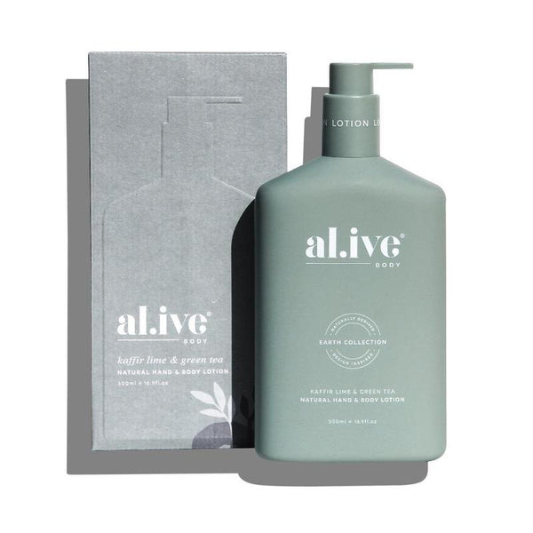 SHOP - ALIVE BODY - hand & body lotion - kaffir lime & green tea