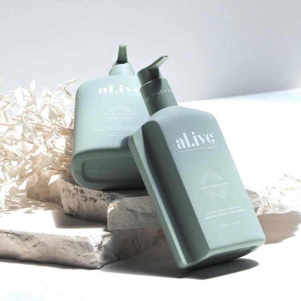 SHOP - ALIVE BODY - hand & body wash - kaffir lime & green tea