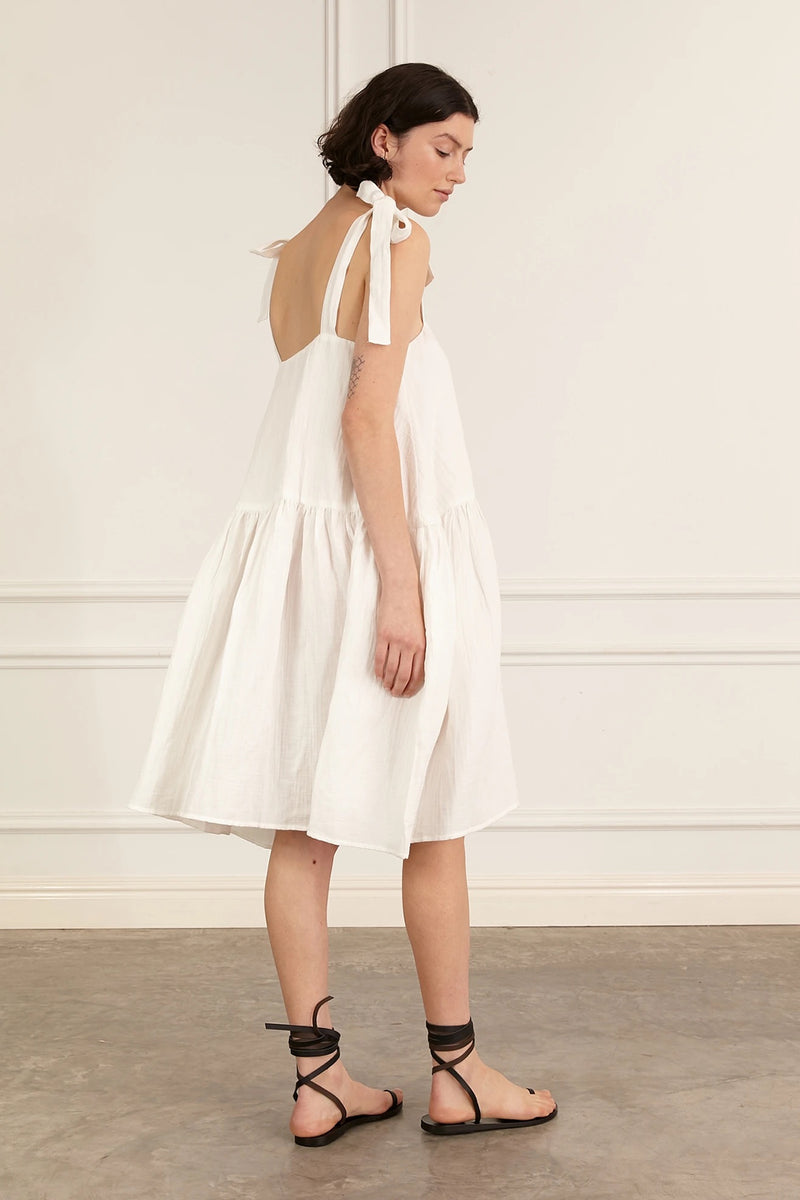 bing dress - white
