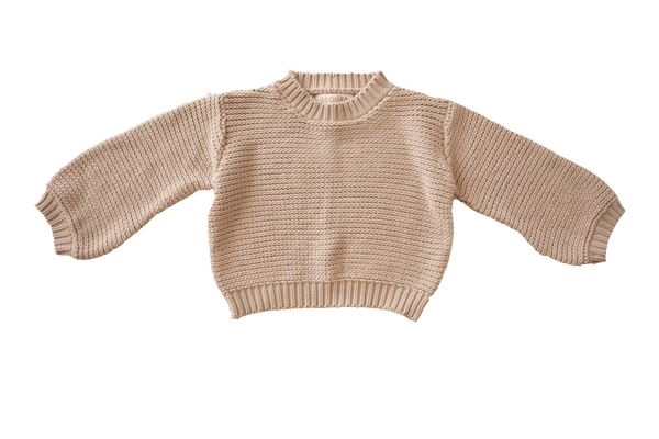 SHOP - ILLOURA - chunky knit jumper - oat