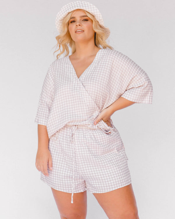SHOP NOW - Lullaby Club - LeeLee Lounge Set - Lilac Gingham