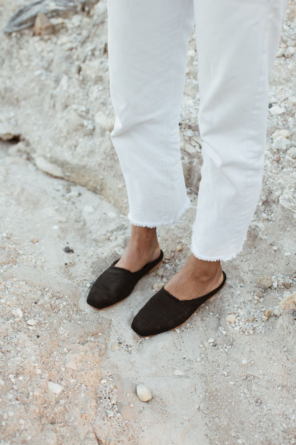 st agni - mae loafer - black knit