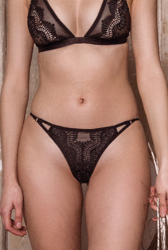 kat the label - chantelle underwear - black