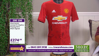 200100 - Manchester United FC replica playing Shirt Multi Signed by the players - Treasure TV