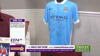 200101 - Manchester City FC replica playing Shirt Multi Signed by the players - Treasure TV
