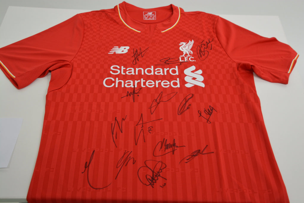 200105 - Liverpool FC Replica Playing Shirt Multi Signed by the Players - Treasure TV