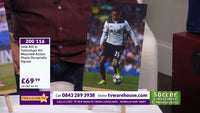 200116 - Dele Alli in Tottenham Kit Mounted action Photo Personally Signed - Treasure TV
