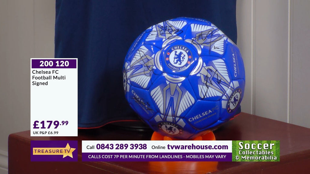 200120 - Chelsea FC  Football Multi Signed by the Players - Treasure TV