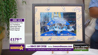 200123 - Manchester City FC Framed & Mounted Team Photo Mount Multi Signed - Treasure TV