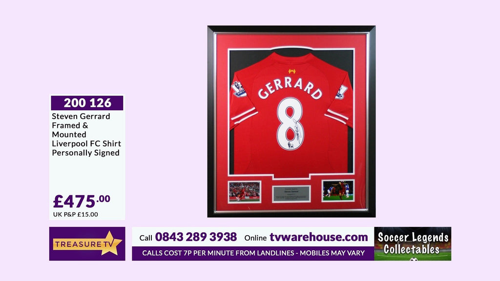 200126 - Steven Gerrard Framed & Mounted Liverpool Fc Shirt Personally Signed - Treasure TV