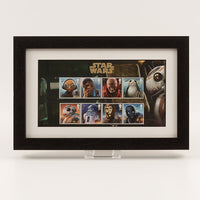 200624 - Star Wars 2017 - 8 Characters Framed Stamps Presentation Card