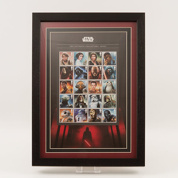 200625 - Star Wars Space Adventure - 20 Characters Ultimate Framed 2017 Official GB Stamps Sheetlet