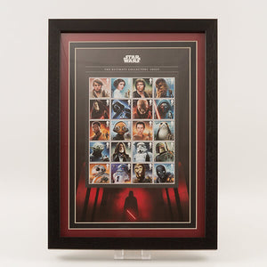 200625 - Star Wars Space Adventure - 20 Characters Ultimate Framed 2017 Official GB Stamps Sheetlet - Treasure TV