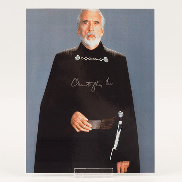 200626 - Sir Christopher Lee Signed Photo - Treasure TV