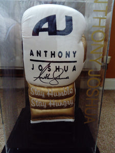 200609 - Anthony Joshua 'Stay Humble & Stay Hungry' AJ Name Boxing Glove