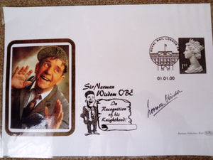 200610 - Sir Norman Wisdom Dated 01-00-00 Original Laminated Artwork for the special Commemorative Cover