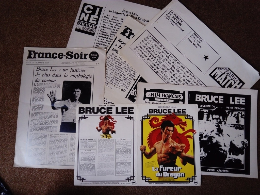 200612 - Bruce Lee - 'La Fureur Du Dragon' – a series of various Press Articles in French - Treasure TV