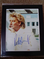 200622 - Rod Stewart Mounted Colour Photo Personally Signed by Rod Stewart