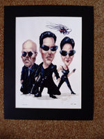 200613 - The Matrix Caricature Mounted Art Print A Numbered Limited Edition of only 1000