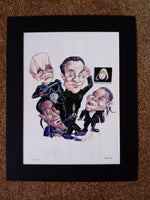 200617 - Red Dwarf Caricature Art Print. A Numbered Limited Edition of only 1000
