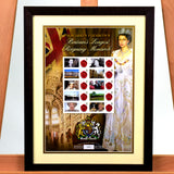 200435 - Queen Elizabeth II GB Long to Reign Customised Sheet Framed - Treasure TV
