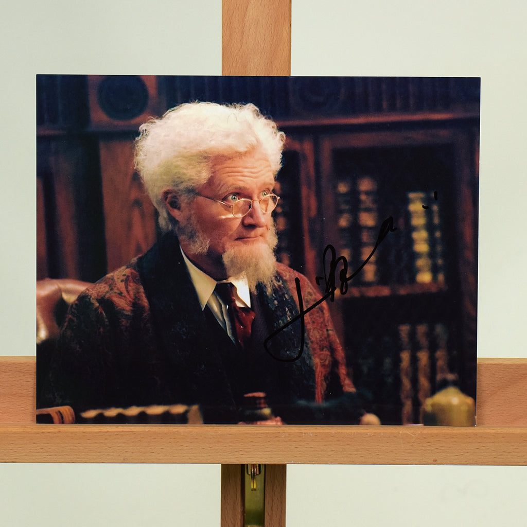 200455 - Jim Broadbent  Mounted Colour Photo Personally Signed - Treasure TV