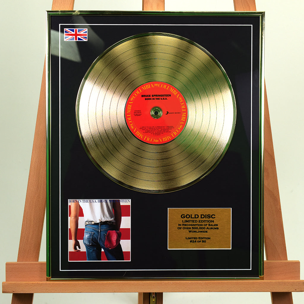 200470 - Bruce Springsteen- Born in the USA Framed & Mounted Gold Disc Ltd Edition of 50 only - Treasure TV