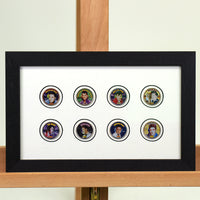 200475 - Elvis Presley Framed & Mounted Collection of 8 Elvis Colorised USA coins - Treasure TV