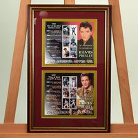 200476 - Elvis Presley 70th Anniversary Framed Stamps Sheetlet - Treasure TV