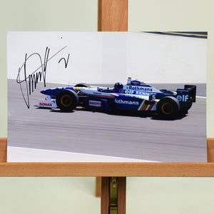 200461 - Damon Hill Mounted Colour Photo Personally Signed - Treasure TV