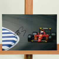200201 - Alain Prost Mounted Colour Photo Personally Signed - Treasure TV