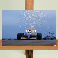 200199 - Nigel Mansell Mounted Colour Photo Personally Signed - Treasure TV
