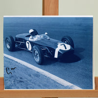 200194 - Sir Stirling Moss Mounted Photo Personally Signed - Treasure TV