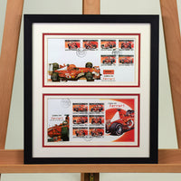 200459 - Ferrari Framed & Mounted Pair of Ferrari Commemorative Covers - Treasure TV