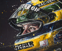 200272 - Designed to Win- Ayrton Senna Paul OZ Framed Giclee Ltd Edition of 75 only - Treasure TV