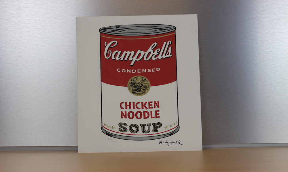 200281 - Andy Warhol - Chicken Noodle Soup Original Official Art Print. Signed in the Plate by Warhol - Treasure TV