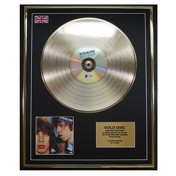 200500 - The Rolling Stones Framed & Mounted Gold Disc Ltd Edition of 50 only - Treasure TV